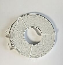 FLAT RJ45 CAT 6 NETWORK ETHERNET 15M WHITE CABLE