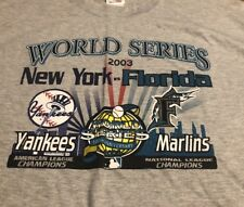 New York Yankees Florida Marlins 2003 World Series 100th Anniversary 2XL XL New