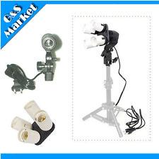 Photo Studio Light Lamp Bulb Holder 4 in1 E27 Socket + Single Lamp Bulb Holder