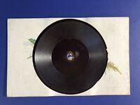 "Tuck Gramophone Record Antique Postcard ""Happy Birthday"" 1910. Oilette #3257"