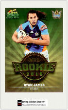 2011 Select NRL Champions Trading Cards Rookie 2010 R19 Ryan James (Titans)