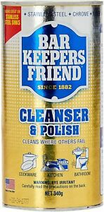 NEW-Bar Keepers Friend BKF-35001-S Cleanser and Polish 340 g, Silver, AU