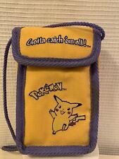 Vintage Pokemon Pikachu Nintendo Gameboy Carrying Case Bag Strap Euc