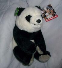 "10"" VINTAGE 1989 APPLAUSE DETERMINED PANDA TEDDY BEAR STUFFED ANIMAL PLUSH TOY"