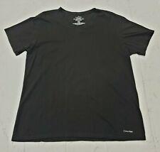 Calvin Klein Mens Black V Neck Slim Fit Stretch T-Shirt Size Men's Large L
