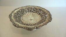 Beautiful Reed & Barton Sterling Silver Chased Decorated Low Pedestal Compote