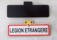 Magnet flexible type PANNEAU ROUTE LÉGION ÉTRANGÈRE - Dimensions = 10 x 3,7 cm
