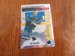 1992-93 Panini Stickers PAT FALLOON Foil #K San Jose Sharks