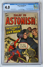 Tales to Astonish #35  CGC 4.0 OW/W 1st Antman in Costume!
