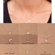 De mujer Unicornio Colgante Collar Oro Clavícula Cadenas Gargantilla joyas nos