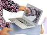 """Silver Laptop computer for Dolls made for 18"""" American Girl Doll Clothes"""