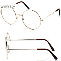 New Harry Potter Gold Round Metal Frame Clear Lens Eye Glasses Fashion Oversized