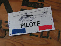 Snake Patch - PILOTE PUMA - ALAT scratch HELICOPTERE RHC FRANCE