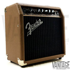 "New Fender Acoustasonic 15 - 15 Watt 1x6"" Acoustic Guitar Combo Amp w/ XLR Input"