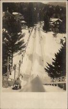 Lake Placid NY Toboggan Run c1910 Real Photo Postcard