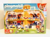 Playmobil 5870 100pc My Take Along Pet Clinic 2008 Retired Brand New Sealed!