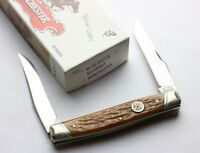 WINCHESTER MUSKRAT FOLDING KNIFE - BROWN BONE - CARTRIDGE SERIES - NIB