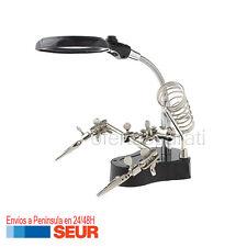 Lupa Led para Mecanica de Precisión con 2 Pinzas para Reparar Soldar