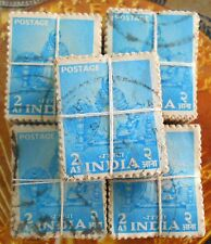 100 STAMPS LOT ( 1 Bundle ) - Woman, Spinning Wheel, Charkha - india Definitive