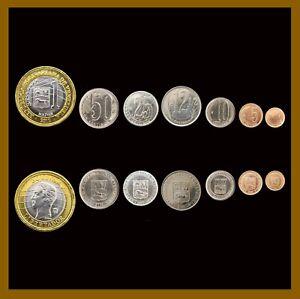 Venezuela 1 5 10 12½ 25 50 Centimos &1 Bolivar (7 Pcs Coin Set), 2007-2012