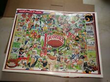 White Mountain Sports Everything Football Jigsaw Puzzle 1000 Pieces Complete