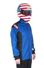 RACEQUIP NEW SFI-1 LARGE BLUE CHEVRON-1 JACKET DRIVING AUTO RACING FIRESUIT