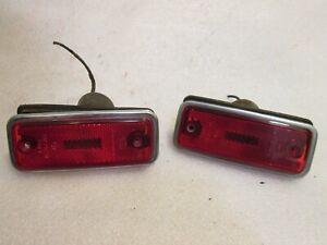69 68-74 75 Volvo Hella Rear Side Marker Light Lens Set 240 / 164 / 140