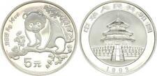 China 5 Yuan 1993 1/2 OZ Panda IN Original Capsule 46263