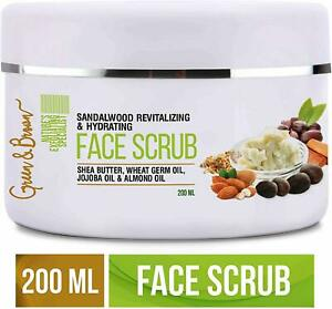 Green & Brown 7 in 1 face scrub Exfoliating and Moisturizing with Sandalwood