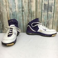 Nike Air Max Elite 2006 Men s 8.5 White Purple Lace Up High Top Basketball  Shoes 9e5e37b51