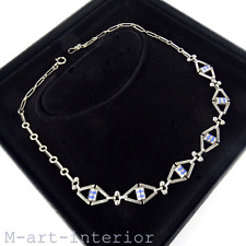 Art Deco Silber Emaille Collier,Theodor Fahrner,Enamel Silver Necklace 1930