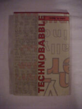 Technobabble by John A. Barry (1991, Hardcover)