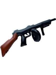 20s 1920s Gangster Inflatable Tommy Gun Toy 75cm Fancy Dress New by Smiffys