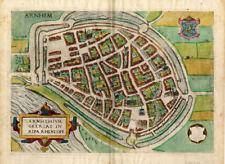 Antique Map-ARNHEM-NETHERLANDS-Guicciardini-1581