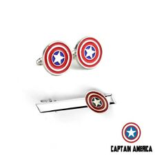 Captain America - Avengers - Tie Clip And Cufflinks Set Marvel - Gift - Fans