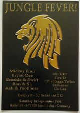 Jungle Fever ~ In Germany @ Halle 101 Speyer, 28/09/96 Rave Flyers