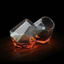 SOIREE Diamond Spirit Glasses Borosilicate Glass Tumblers Whiskey Set of 2