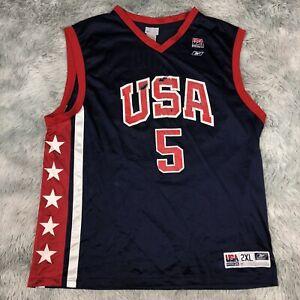 Official 2004 Reebok USA Men's Olympic Team #5 Jason KIDD Basketball Jersey 2XL