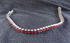 "8"" Orissa Rhodolite Garnet Sterling Silver Bracelet In Platinum Overlay 18 CTW"