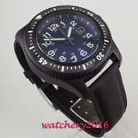 44mm Sterile Dial Rotating Bezel PVD Automatisch Movement Uhr parnis men's Watch