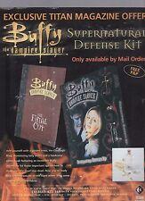 (-0-) Buffy the vampire Slayer defense Kit advert A4 Poster cutting  Rare (-0-)