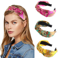 Women's Tie Headband Knot Hairband Art Vintage Hair Band Hoop Accessories Party