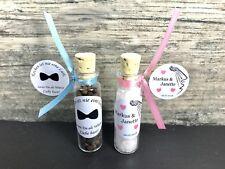 Pfeffer & Salz Gastgeschenk Hochzeit Reagenzglas Personalisiert Wedding GiveAway