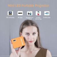 Tragbarer 1500LM LED Projektor Mini Beamer Heimkino HD 1080P USB HDMI AV VGA YER