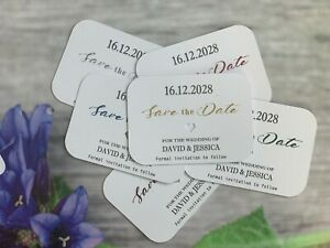 Personalised Wedding Save The Date Evening Invite Cards Magnet Envelopes VT301h