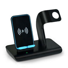 Qi Wireless Charger 2in1 Charging Holder For Apple Watch iWatch iPhone XR XSMAX