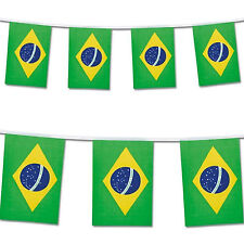 Superstars 2016 Brazil Olympic Flag Bunting Banner 7 Metres 25 Large Flags