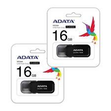 Lot of 2 Adata 16GB Cruzer USB Thumb Pen Flash Drive Memory Stick Storage 16G