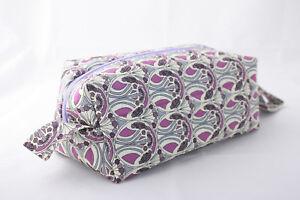Callabus Andra Liberty Tana Lawn Mauverina make up bag NEW purple handmade
