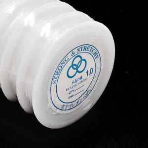 Gummifaden 3x4 m für Armbänder elastisch transparent 1 mm Perlen nenad-design